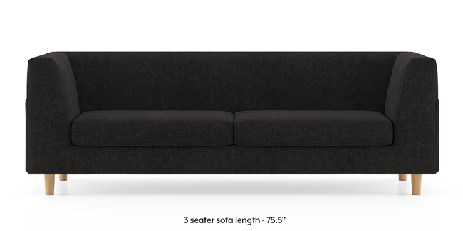 Rubik Sofa (Asphalt Grey) (2-seater Custom Set - Sofas, None Standard Set - Sofas, Fabric Sofa Material, Regular Sofa Size, Regular Sofa Type, Asphalt Grey)