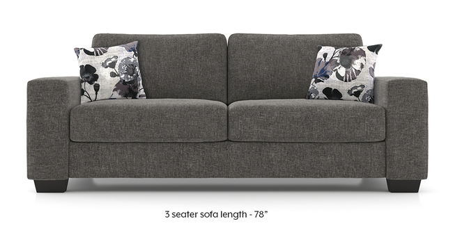 Leslie Sofa (Alloy Grey) (Alloy Grey, 2-seater Custom Set - Sofas, None Standard Set - Sofas, Fabric Sofa Material, Regular Sofa Size, Regular Sofa Type)