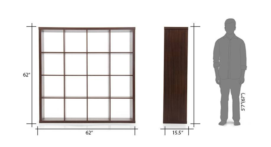 Boeberg bookshelf 4x4  28dark walnut 29 07 8