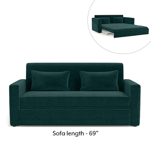 Camden Sofa Cum Bed (Malibu Blue)