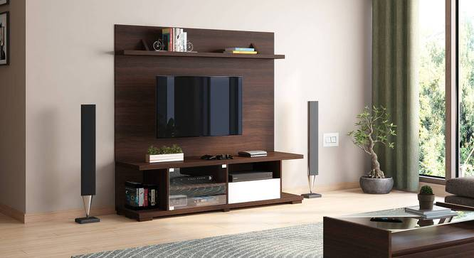 Iwaki Swivel TV Unit (Dark Walnut Finish, Floor Standing Unit) by Urban Ladder