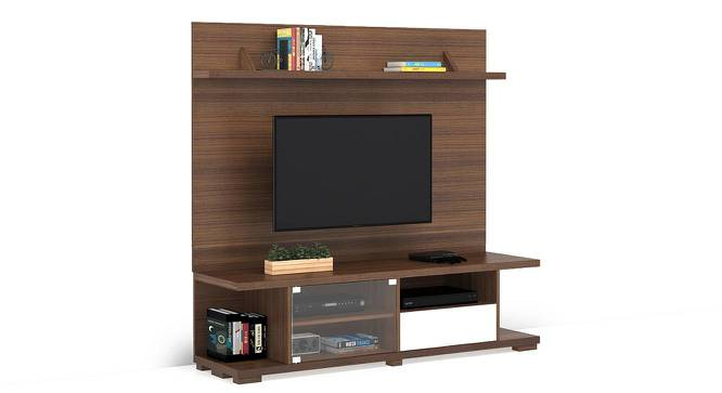 Iwaki Swivel TV Unit (Walnut Finish, Floor Standing Unit) by Urban Ladder