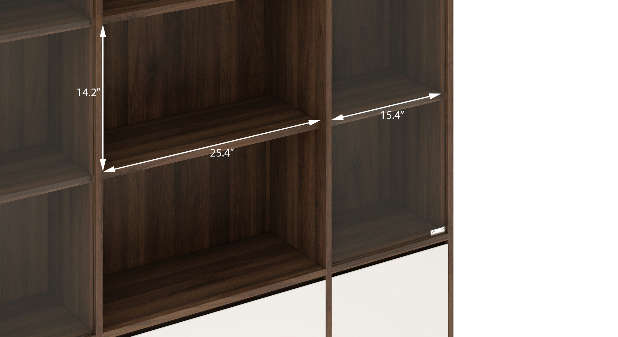 Iwaki bookshelf with glass door columbian walnut 6