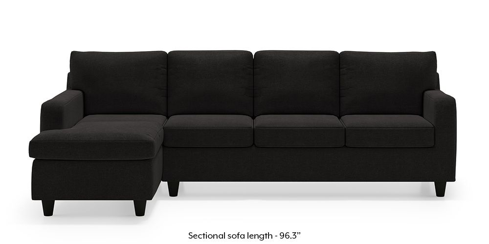 Walton Sectional Sofa (Asphalt Grey) by Urban Ladder
