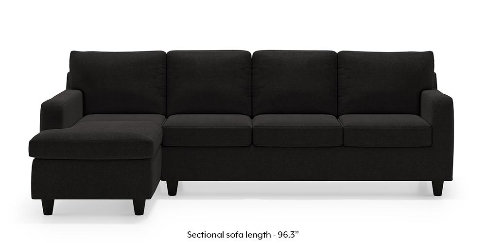 Walton Sectional Sofa (Asphalt Grey) by Urban Ladder
