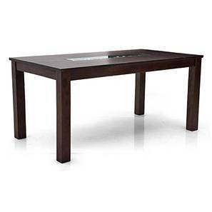 Brighton 6 Seater Dining Table (Mahogany Finish) by Urban Ladder
