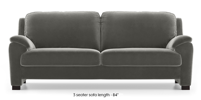 Farina Sofa (Ash Grey Velvet) (3-seater Custom Set - Sofas, None Standard Set - Sofas, Fabric Sofa Material, Regular Sofa Size, Regular Sofa Type, Ash Grey Velvet)