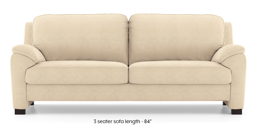 Farina Sofa (Birch Beige) (3-seater Custom Set - Sofas, None Standard Set - Sofas, Fabric Sofa Material, Regular Sofa Size, Regular Sofa Type, Birch Beige) by Urban Ladder - - 292356