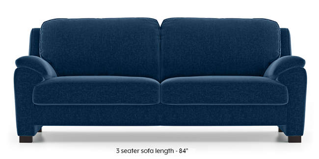 Farina Sofa (Cobalt Blue) (3-seater Custom Set - Sofas, None Standard Set - Sofas, Cobalt, Fabric Sofa Material, Regular Sofa Size, Regular Sofa Type)