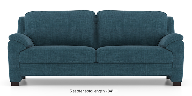 Farina Sofa (Colonial Blue) (3-seater Custom Set - Sofas, None Standard Set - Sofas, Fabric Sofa Material, Regular Sofa Size, Regular Sofa Type, Colonial Blue)