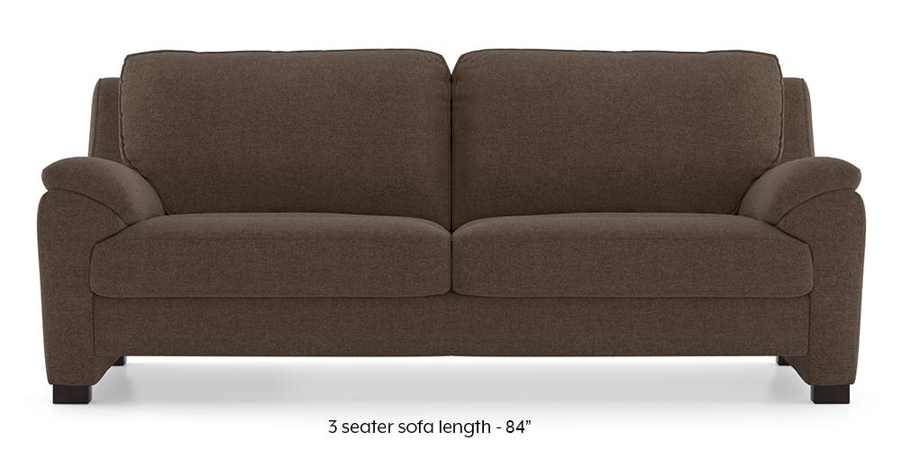 Farina Sofa (Daschund Brown) (3-seater Custom Set - Sofas, None Standard Set - Sofas, Fabric Sofa Material, Regular Sofa Size, Regular Sofa Type, Daschund Brown) by Urban Ladder - - 292476