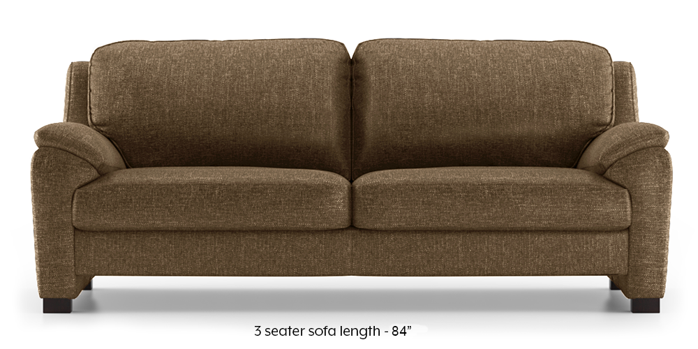 Farina Sofa (Dune Brown) (3-seater Custom Set - Sofas, None Standard Set - Sofas, Dune, Fabric Sofa Material, Regular Sofa Size, Regular Sofa Type) by Urban Ladder - - 292499