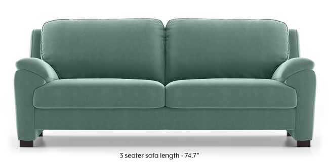 Farina Sofa (Dusty Turquoise Velvet) (3-seater Custom Set - Sofas, None Standard Set - Sofas, Fabric Sofa Material, Regular Sofa Size, Regular Sofa Type, Dusty Turquoise Velvet)