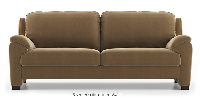Farina Sofa (Fawn Velvet) (3-seater Custom Set - Sofas, None Standard Set - Sofas, Fabric Sofa Material, Regular Sofa Size, Regular Sofa Type, Fawn Velvet)