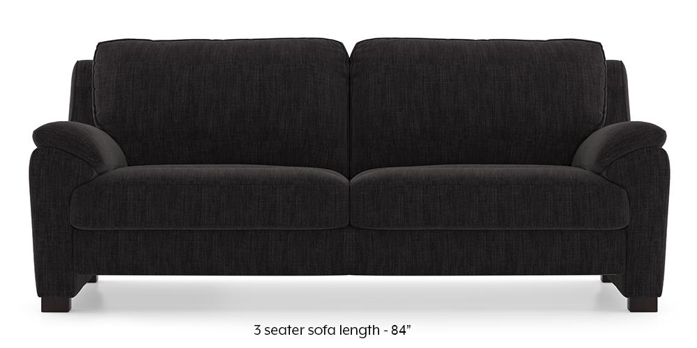 Farina Sofa (Graphite Grey) (3-seater Custom Set - Sofas, None Standard Set - Sofas, Fabric Sofa Material, Regular Sofa Size, Regular Sofa Type, Graphite Grey) by Urban Ladder - - 292572