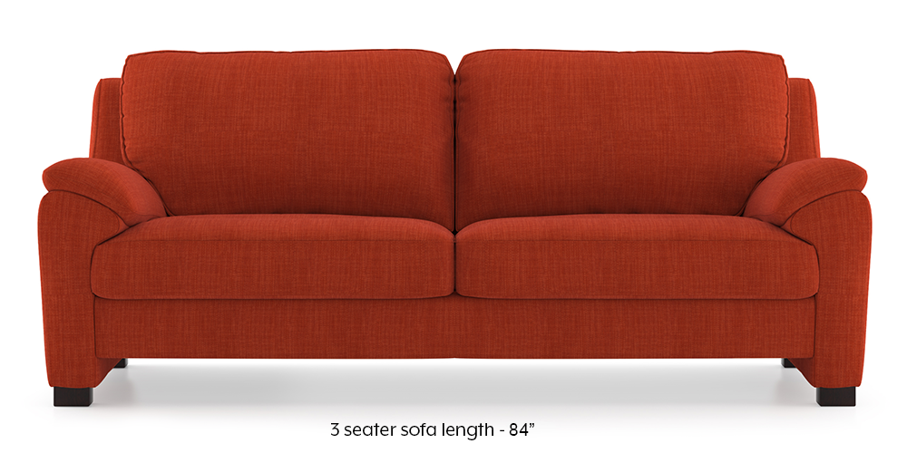 Farina Sofa (Lava) (3-seater Custom Set - Sofas, None Standard Set - Sofas, Lava, Fabric Sofa Material, Regular Sofa Size, Regular Sofa Type) by Urban Ladder - - 292619