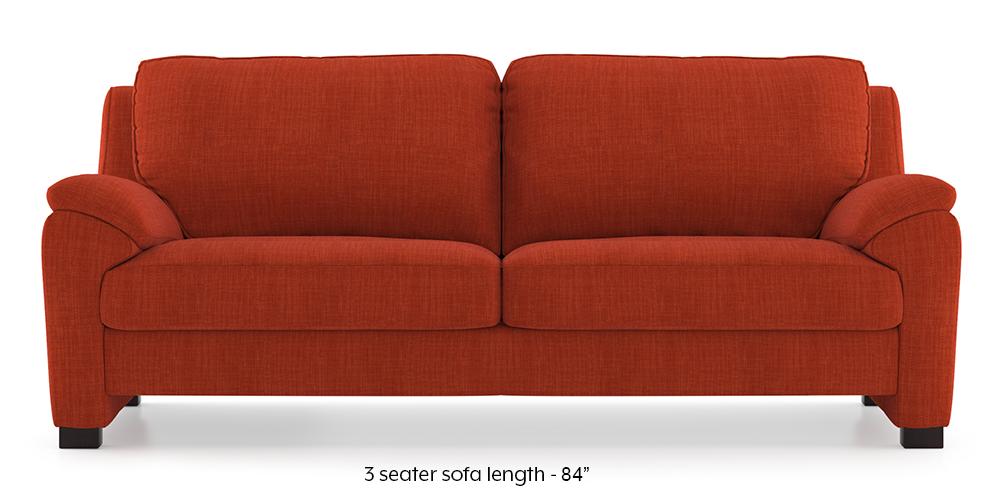 Farina Sofa (Lava) (3-seater Custom Set - Sofas, None Standard Set - Sofas, Lava, Fabric Sofa Material, Regular Sofa Size, Regular Sofa Type) by Urban Ladder - - 292619
