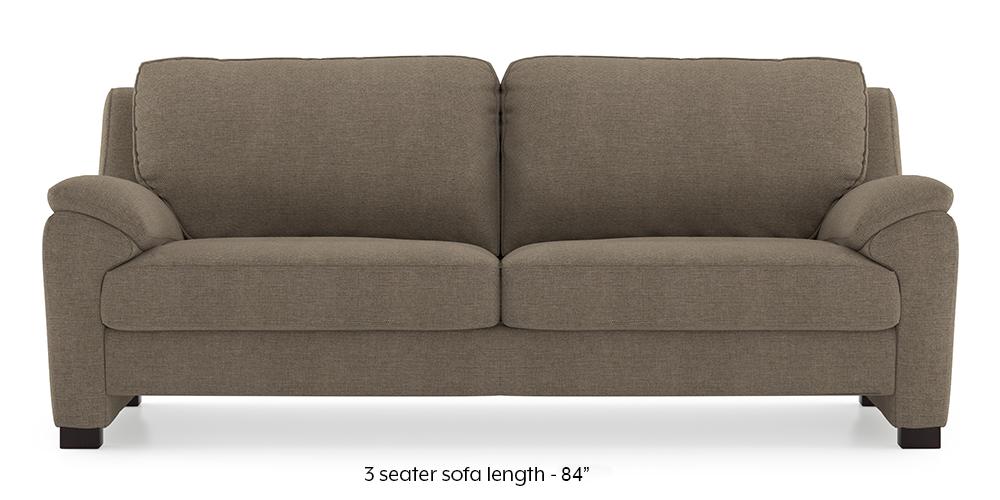 Farina Sofa (Mist Brown) (3-seater Custom Set - Sofas, None Standard Set - Sofas, Mist, Fabric Sofa Material, Regular Sofa Size, Regular Sofa Type) by Urban Ladder - - 292667