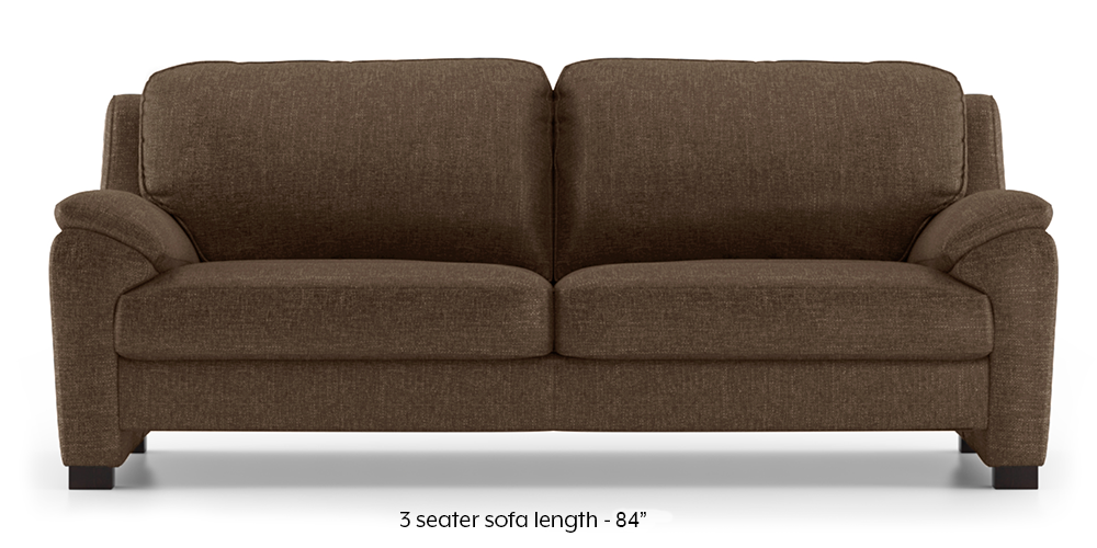 Farina Sofa (Mocha) (3-seater Custom Set - Sofas, None Standard Set - Sofas, Mocha, Fabric Sofa Material, Regular Sofa Size, Regular Sofa Type) by Urban Ladder - - 292691