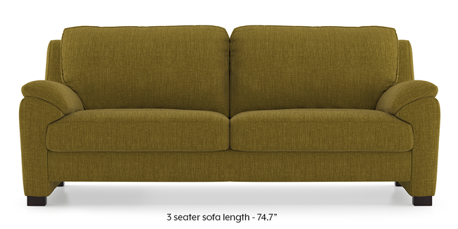 Farina Sofa (Olive Green) (3-seater Custom Set - Sofas, None Standard Set - Sofas, Olive Green, Fabric Sofa Material, Regular Sofa Size, Regular Sofa Type)