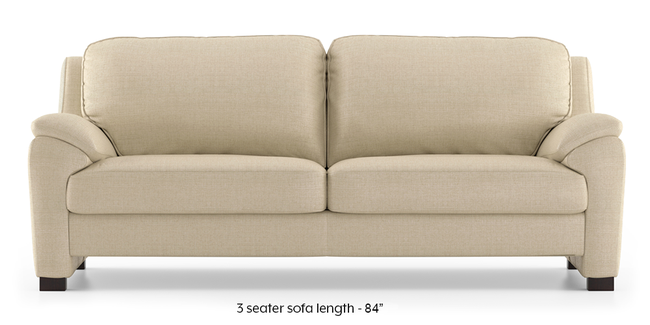 Farina Sofa (Pearl) (Pearl, 3-seater Custom Set - Sofas, None Standard Set - Sofas, Fabric Sofa Material, Regular Sofa Size, Regular Sofa Type)