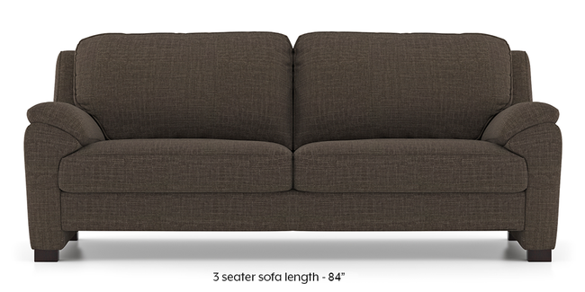 Farina Sofa (Pine Brown) (3-seater Custom Set - Sofas, None Standard Set - Sofas, Fabric Sofa Material, Regular Sofa Size, Regular Sofa Type, Pine Brown)
