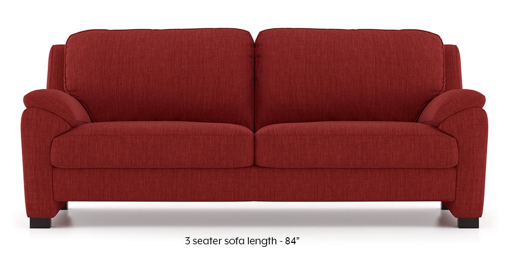 Farina Sofa (Salsa Red) (3-seater Custom Set - Sofas, None Standard Set - Sofas, Fabric Sofa Material, Regular Sofa Size, Regular Sofa Type, Salsa Red) by Urban Ladder - - 292835