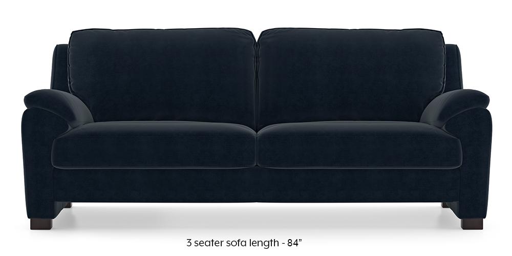 Farina Sofa (Sea Port Blue Velvet) (3-seater Custom Set - Sofas, None Standard Set - Sofas, Fabric Sofa Material, Regular Sofa Size, Regular Sofa Type, Sea Port Blue Velvet) by Urban Ladder - - 292883