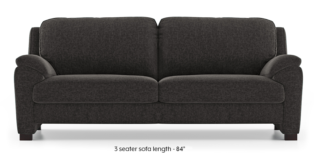 Farina Sofa (Smoke Grey) (3-seater Custom Set - Sofas, None Standard Set - Sofas, Smoke Grey, Fabric Sofa Material, Regular Sofa Size, Regular Sofa Type) by Urban Ladder - - 292907