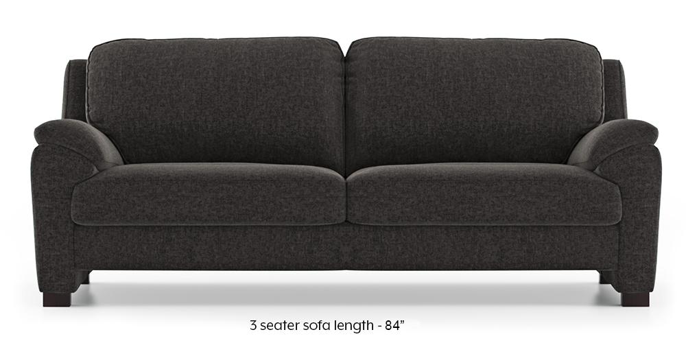 Farina Sofa (Smoke Grey) (3-seater Custom Set - Sofas, None Standard Set - Sofas, Smoke Grey, Fabric Sofa Material, Regular Sofa Size, Regular Sofa Type) by Urban Ladder - - 292907