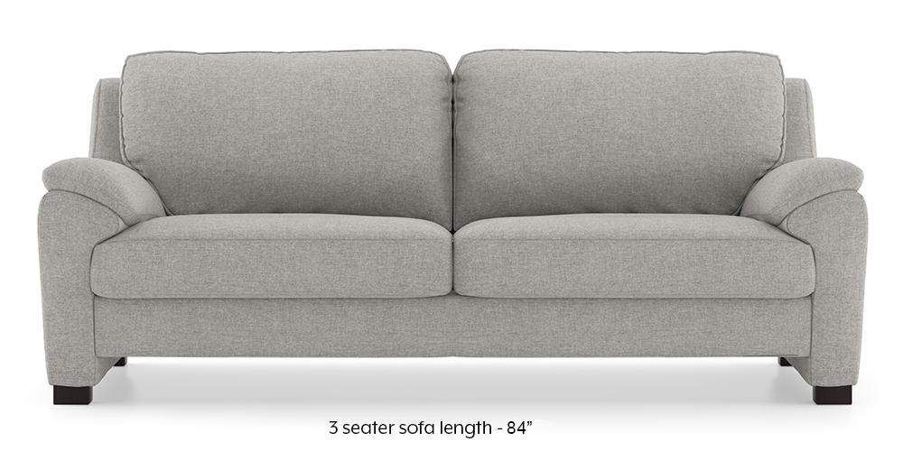Farina Sofa (Vapour Grey) (3-seater Custom Set - Sofas, None Standard Set - Sofas, Fabric Sofa Material, Regular Sofa Size, Regular Sofa Type, Vapour Grey) by Urban Ladder - - 292955