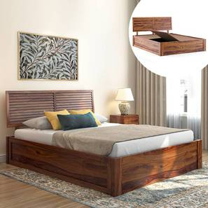 Terence Storage Bed (Teak Finish, King Bed Size, Box Storage Type) by Urban Ladder