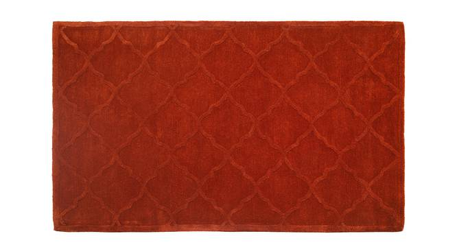 "Rumi Hand Tufted Carpet (Rust, 122 x 183 cm  (48"" x 72"") Carpet Size) by Urban Ladder"