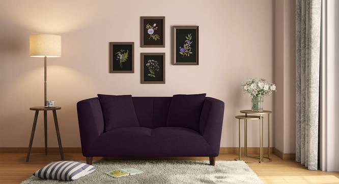 Janet Loveseat (Grape Purple) by Urban Ladder