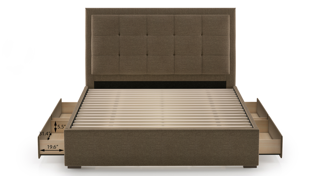 Thorpe Upholstered Storage Bed (Queen Bed Size) by Urban Ladder