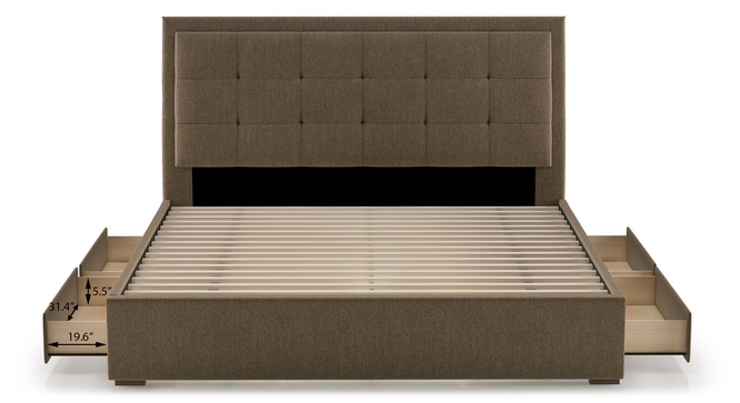 Thorpe Upholstered Storage Bed (King Bed Size) by Urban Ladder