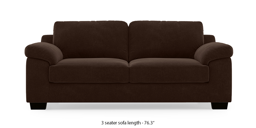 Esquel Sofa (Dark Earth) (1-seater Custom Set - Sofas, None Standard Set - Sofas, Dark Earth, Fabric Sofa Material, Regular Sofa Size, Regular Sofa Type) by Urban Ladder - - 293244