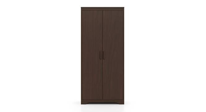 Hilton 2 Door Wardrobe (Without Mirror, Without Drawer Configuration, 6 Feet Height, Smoked Walnut Finish) by Urban Ladder