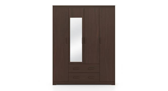Hilton 4 Door Wardrobe (2 Drawer Configuration, Smoked Walnut Finish) by Urban Ladder