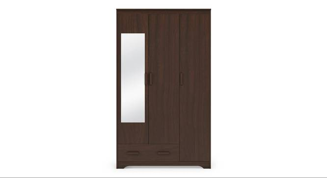 Hilton 3 Door Wardrobe (1 Drawer Configuration, Smoked Walnut Finish) by Urban Ladder