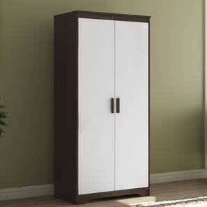 Miller 2 Door Wardrobe (Two-Tone Finish, Without Mirror, Without Drawer Configuration, 6 Feet Height) by Urban Ladder