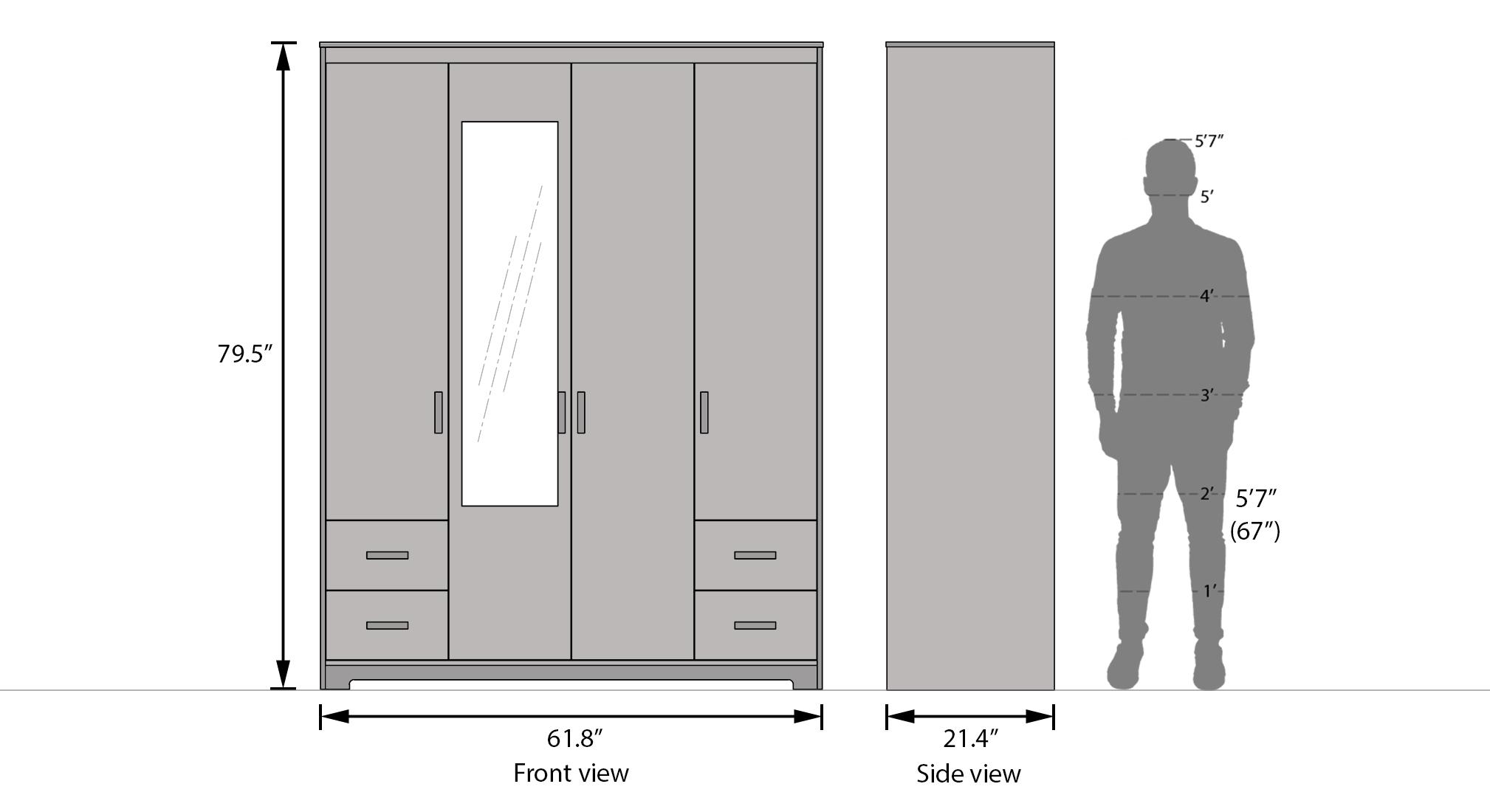 Miller four door four drawer 24