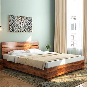 Ohio Low Bed (Teak Finish, Queen Bed Size) by Urban Ladder