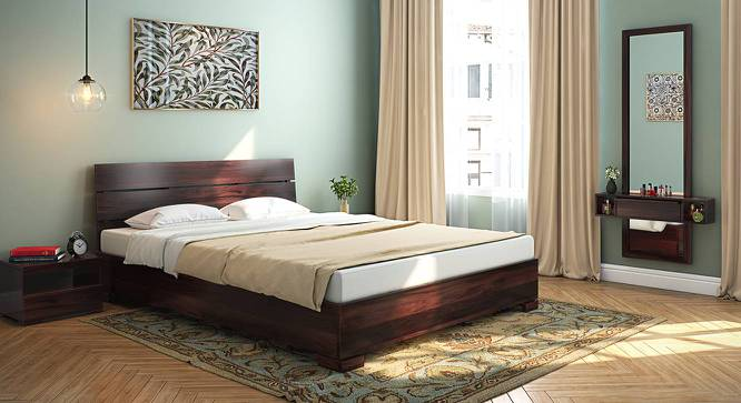 Ohio Low Bed (Mahogany Finish, Queen Bed Size) by Urban Ladder