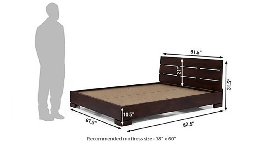 Ohio low bed mahogany finish 21