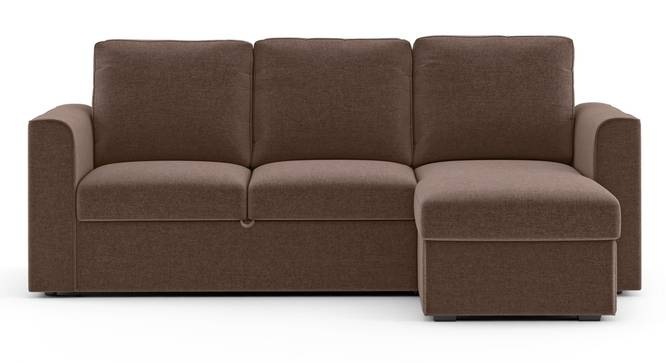 Kowloon Sectional Sofa Cum Bed with Storage (Daschund Brown) by Urban Ladder - Front View Design 1 - 293526