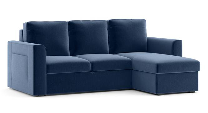 Kowloon Sectional Sofa Cum Bed with Storage (Lapis Blue) by Urban Ladder - Cross View Design 1 - 293537
