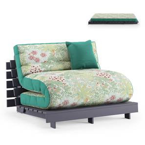 Finn Futon Sofa Cum Bed (Lagoon Green) by Urban Ladder