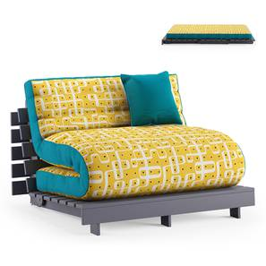 Finn Futon Sofa Cum Bed (Aqua) by Urban Ladder