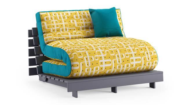 Finn Futon Sofa Cum Bed (Aqua) by Urban Ladder